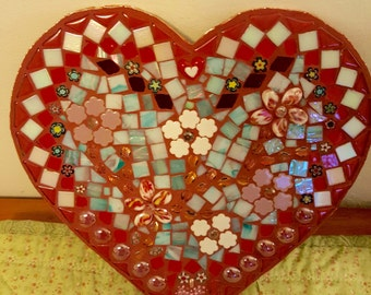 Love is in the air with this colorful Mosaic Heart