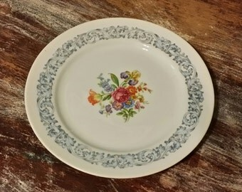 Vintage Aichi China Sheffield Pattern Bread Plate - Made in Occupied Japan
