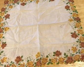 Red & Yellow Roses Handkerchief