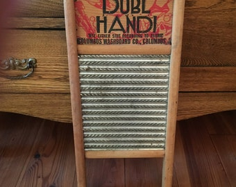 Vintage Washboard, Primatives, Wood, Metal, Wall Decor, Antique, Laundry, Aged Patina, Farmhouse Decor, Country, Home Decor, Rustic