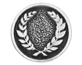 2 Laurel Wreath 3/4 inch ( 18 mm ) Pewter Buttons