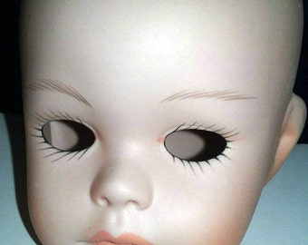 Porcelain Pouty Mouth Caucasian Doll's Head Arms and Legs (Model 2349) Pout
