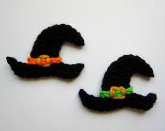 """1pc 3.5"""" Crochet WITCH HAT Applique"""