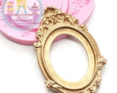 Victorian Oval Cameo Photo Frame Setting Mold 63mm Dollhouse Deco Food Safe Fondant Fimo 401L* BEST QUALITY