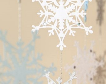 Snowflake Die Cut Embellishment for Scrapbooking & Card Making Mobiles Party Decorations