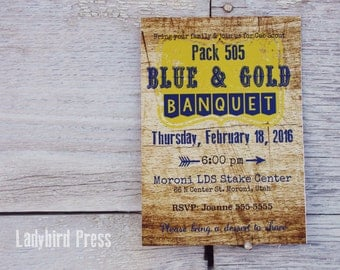 Printable Blue and Gold Banquet Invitation -Cub Scouts - Printable - Eagle - PDF