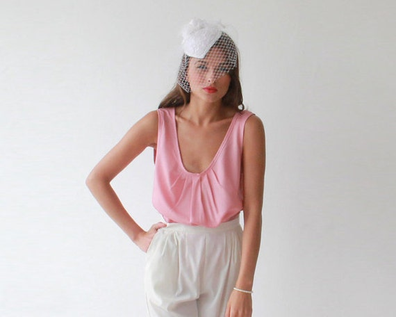 Pleated pink summer top , Summer short top 2020
