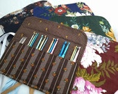Crochet Hook Roll-ups, great for travel, purse, backpack, school ~ take your craft with you wherever you go