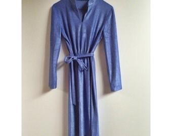 Vintage 70s Periwinkle Dress.