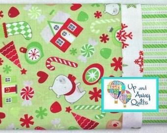 Pillowcase Kit - Green Christmas Goodies