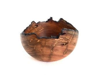 Wood Bowl No.160637-Natural Edge Amarello Wood