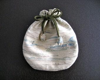 Pouch,Small Bag,Japanese  Silk kimono fabric #27