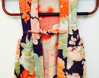 Antique Children's CHANCHANKO - padded silk vest