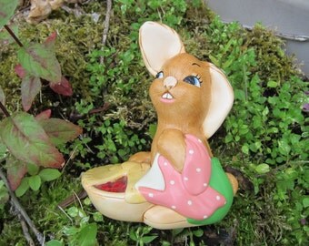"Vintage PenDelfin Rabbit (Bunny) Figurine, ""Pieface,"" circa 1966 - Flat Rate Shipping"