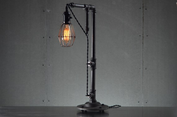 industrial table lamps edison bulb light table lamp industrial. Black Bedroom Furniture Sets. Home Design Ideas