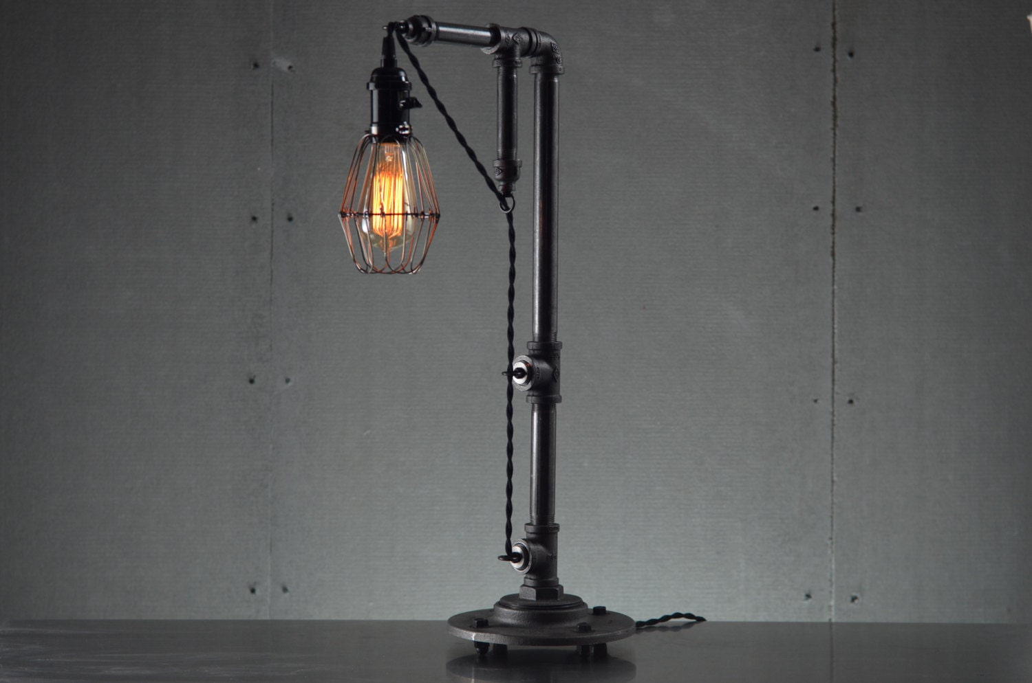 Industrial table lamps edison bulb light table lamp Light bulb lamps