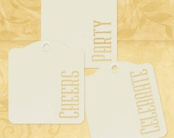 20% Sale-Graphic 45 Cheers, Party, Celebrate-Ivory Tags
