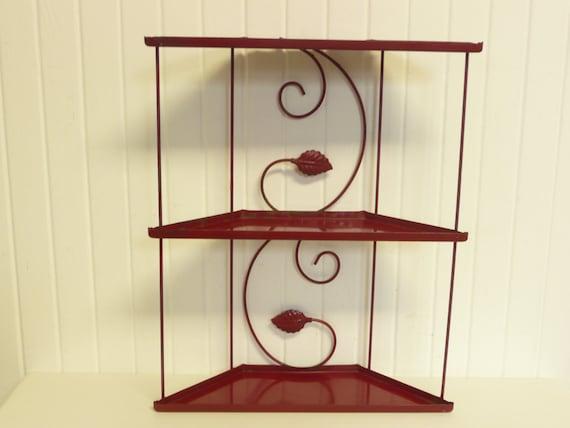 red corner shelf unit 3