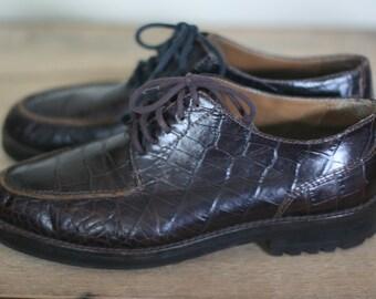 vintage ralph lauren brown leather oxfords size 7.5B