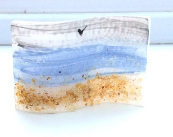 Sea Mini Fused Glass Wave