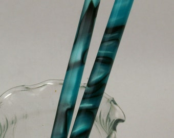 Abalone acrylic hair sticks