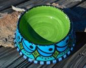 Large, Hand Painted Ceramic Pet Bowl
