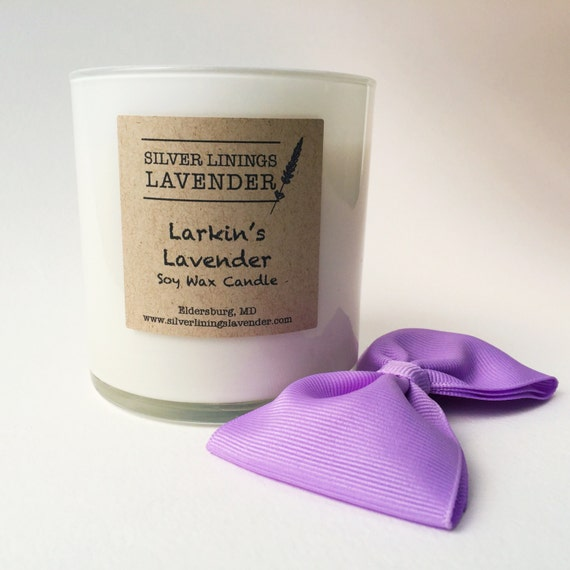 Larkin's Lavender Soy Wax Candle / Lavender Vanilla Candle / Aromatherapy for Grief / Infant Loss Awareness / Larkin's Legacy