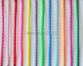 4mm Thickness PU Leather Braid Round Rope Hemp Cord Thread For Diy Good For Jewelry Design and Crafts