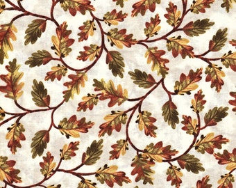 Fat Quarter Harvest Fall Autumn Leaves 100% Cotton Quilting Fabric