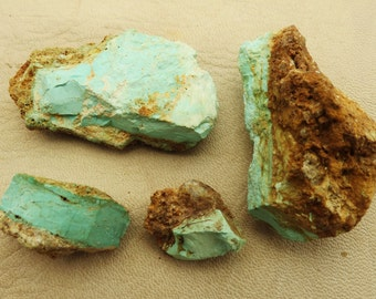 Nevada Turquoise Raw Rough Turquoise Lot Chunks Unknown Mine Nevada Oldstock Lapidary Untreated Unstabilized