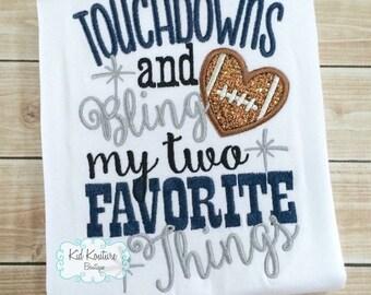 Touchdowns and Bling Football shirt