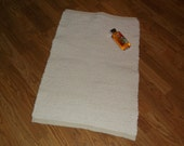RESERVED for RHONDA.  Hand woven bath mat or small rug made entirely of a vintage hobnail bedspread