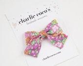 "Baby Bow Headband OR Hair Clip // Liberty of London Hair Bow ""Dinah"" by Charlie Coco's"