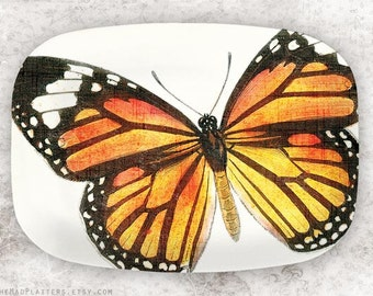 Monarch butterfly melamine platter or plate