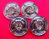 Czech  Glass Buttons  4 pcs  collectable CAT   27mm     IVA 128