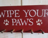 Handmade Dog Leash Holder - Wipe Your Paws