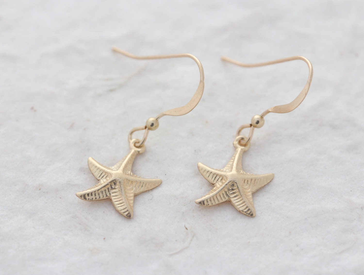 gold starfish earrings gold filled starfish earrings