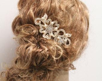 Gold Bridal hair comb Gold Wedding hair accessory Bridal hair piece Wedding hair comb Gold Bridal hair accessory Wedding headpiece Bridal