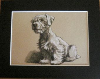 Sealyham TERRIER DOG Vintage mounted 1935 Cecil Aldin Sealyham terrier dog plate print Unique Christmas Birthday Thanksgiving rare gift