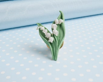 Lily of the Valley lapel pin