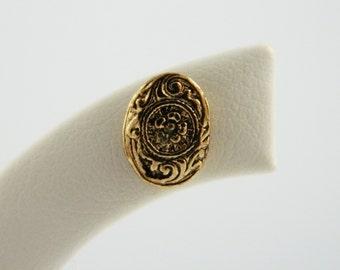 Gold Flower Print Earrings - OE017