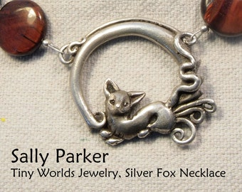 Silver Fox (Kitsune) Necklace