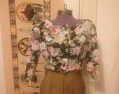 Pattern flower 100% cotton bolero size small