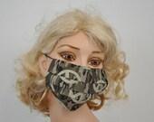 Flu Mask, Camouflage, Peace sign, Cotton medical mask, hunter, unisex mask, washable, cool, Hospital gift