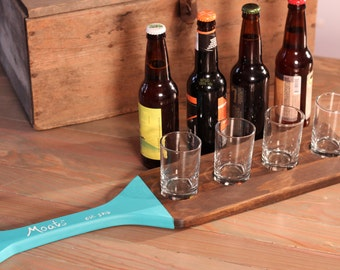 Personalized Beer Flight Paddle, Custom Wedding Gift, Parents Anniversary Present or Groomsmen or Bridesmaid Present - Creative & Unique