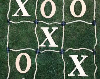 Tic Tac Toe Personalized/Initials Wedding Oversized Big Outdoor Yard Lawn Game - School and Classroom!