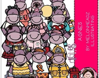 Hippo clip art - Agnes