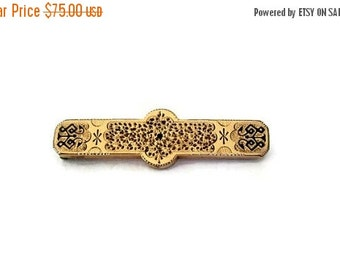 ON SALE Edwardian Gold Bar Pin, Brooch Antique