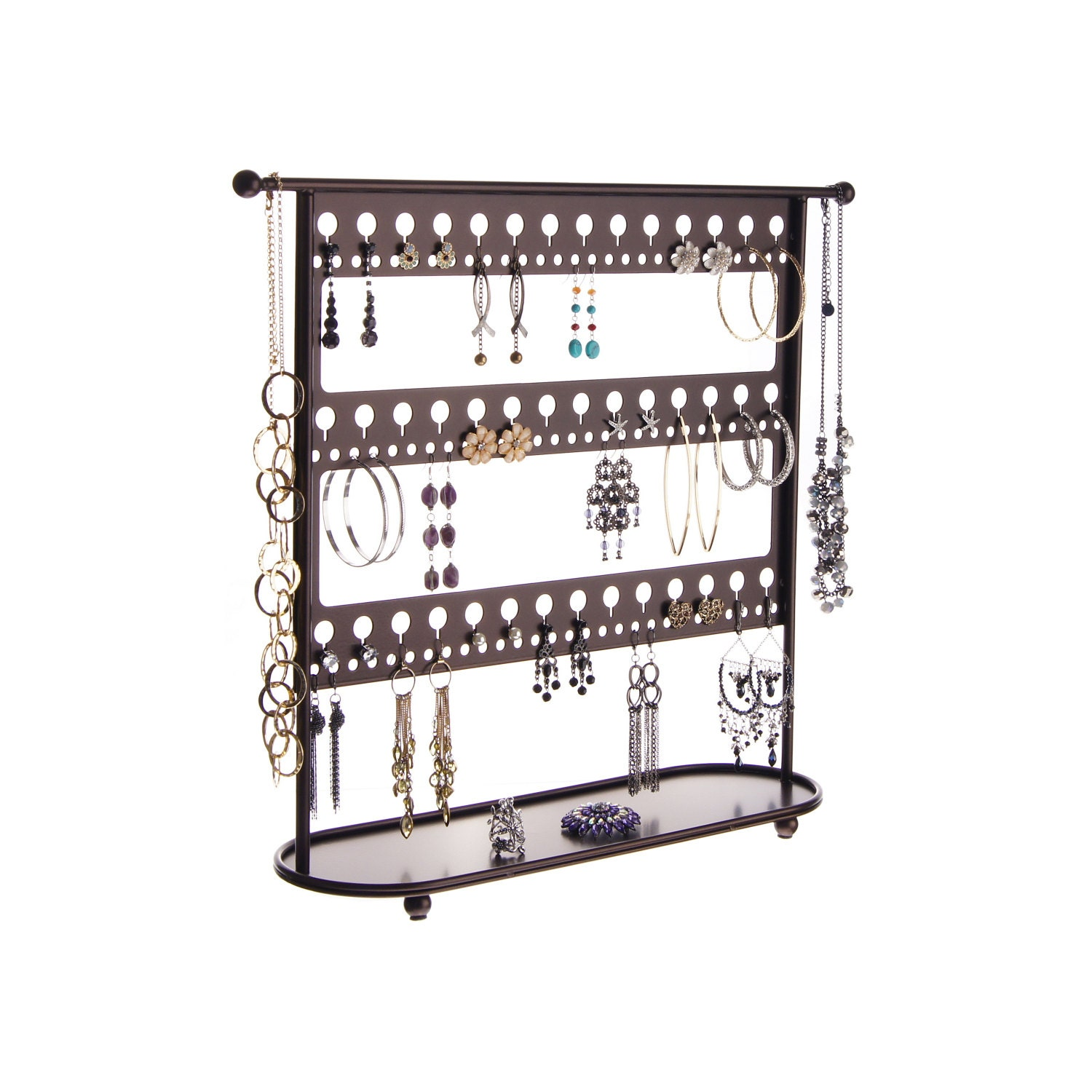 earring holder stand jewelry organizer hanging necklace tree. Black Bedroom Furniture Sets. Home Design Ideas
