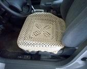 Crochet Car Front Seat Cover - oatmeal (CCFSC2A)